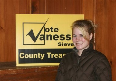 Vanessa Sievers, Grafton County Treasurer-elect